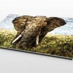 Alu Dibond Foto mit Mosaik