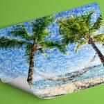 Urlaubs Mosaik als Poster gedruckt