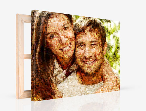 Fotoleinwand mit Mosaik
