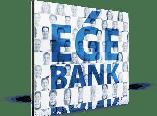 Fotomosaik einer Bank