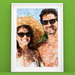 Fotoposter mit Mosaik