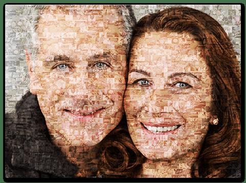 Mosaikbild als Geschenk