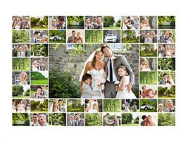 Fotocollage Hochzeit mit vielen Bildern