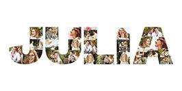 Mit Fotocollage aus Buchstaben Namen erstellen
