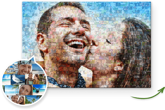 Fotomosaik Hauptbild und Detailansicht der Einzelbilder