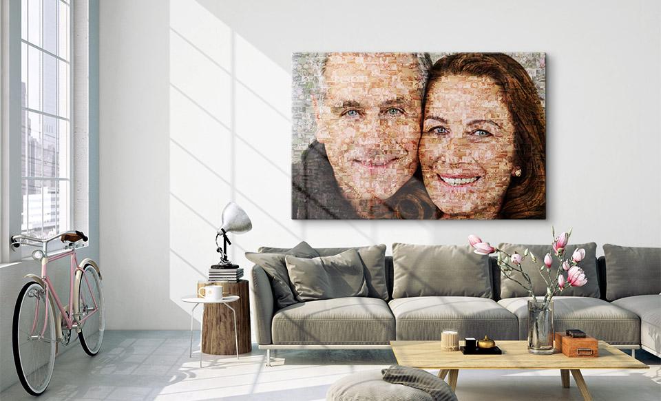 foto mosaik geschenk wohnung
