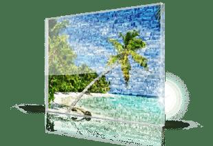 fotomosaik acryl strand klein