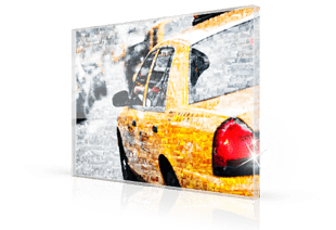 fotomosaik acryl taxi klein
