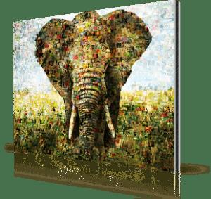 Fotomosaik Alu Elefant