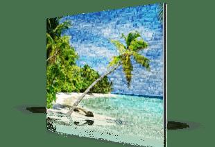 fotomosaik alu strand klein