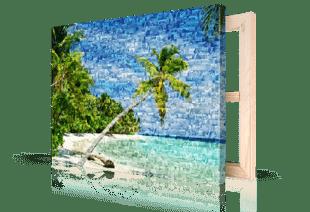 Fotomosaik Strand auf Leinwand gedruckt