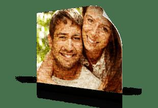 Fotomosaik Paar als Poster