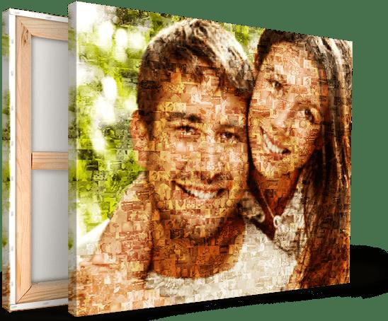Ein Fotomosaik auf Leinwand drucken