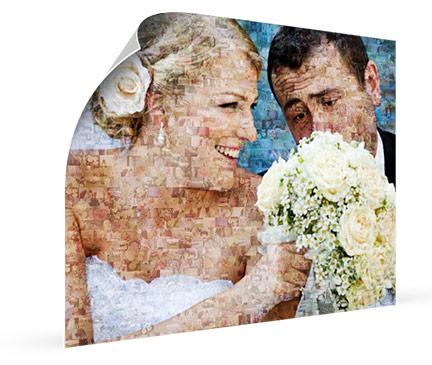 hochzeitspaar mosaik poster ansicht
