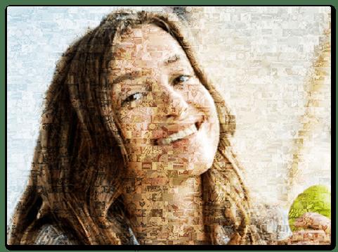 Mosaikbild zum Geburtstag