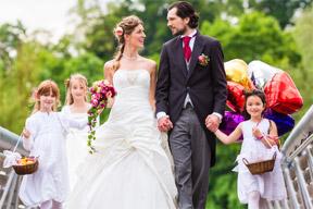 Hochzeitspaar als Mosaikbild