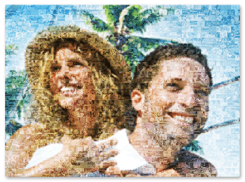 Urlaubsfotos als Mosaikbild