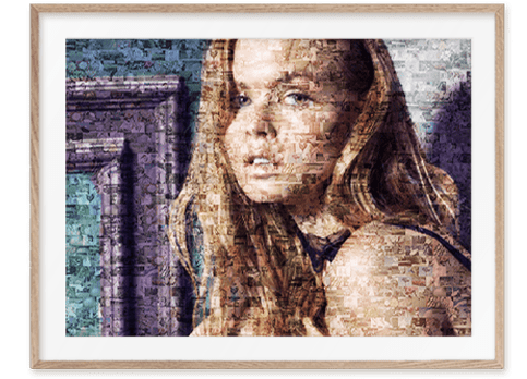 Mosaik Portrait aus Fotos