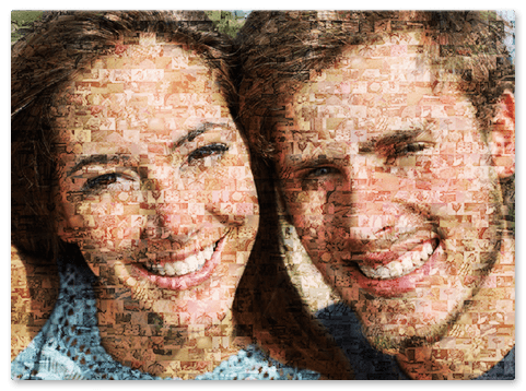 Photo Mosaik aus kleinen Bildern