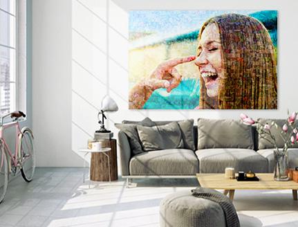 wohnraum mosaik poster